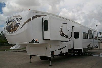 2014 Heartland Bighorn Silverado 37QB Quad Bunk Fifth Wheel LIKE NEW!