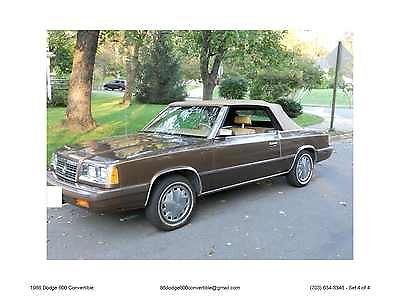 Dodge : Other Convertible 1986 dodge 600 convertible