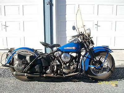 Harley-Davidson : Other ORIGINAL PAINT 1947 HARLEY DAVIDSON KNUCKELHEAD RUNS GREAT TURN KEY & RIDE