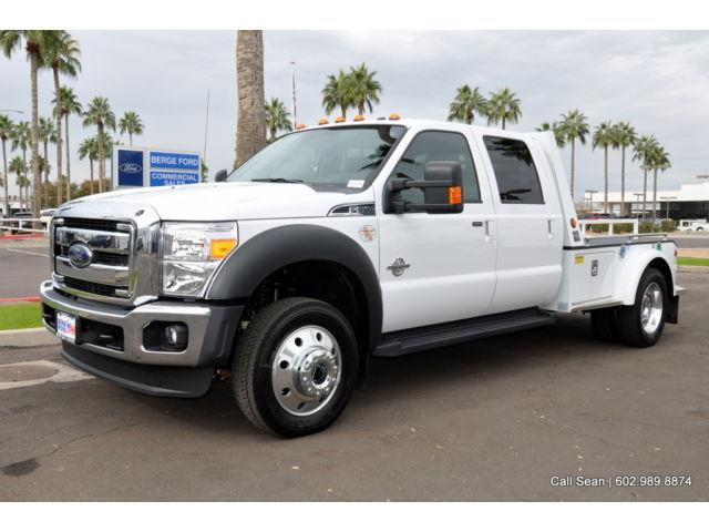 Ford : Other Pickups Lariat 2015 f 550 4 wd crew cab xl power equipment 11 hillsboro gooseneck flatbed hauler