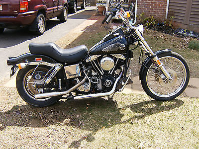 Harley-Davidson : Touring harley wide glide shovelhead vintage rare nr rat fxwg barn find chopper bobber 1