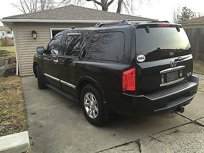 Infiniti : QX56 QX56 2007 infiniti qx 56 beautiful black on black nav backup dvd leather loaded sunroo