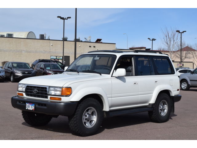 Toyota : Land Cruiser 4dr 4WD 1995 toyota land cruiser 4 wd diff locks leather 3 rd row seat rare