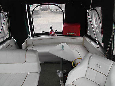 1999 Larson Cabrio 290, single, factory AC, tanning pad, two full campers, EXLNT