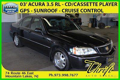 Acura : RL W/NAVIGION SYST 2003 w navigion syst used 3.5 l v 6 24 v fwd sedan onstar premium