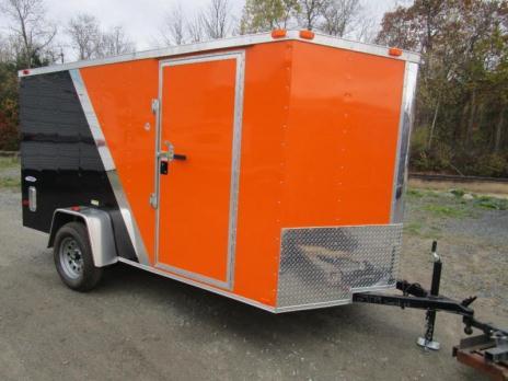 2015 Five Star Enclosed Cargo Trailer 6 x 12, Orange / Black Loaded