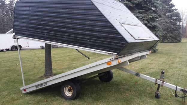 Enclosed 2 Place Snowmobile Trailer