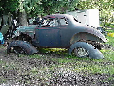 Plymouth : Other scary rat rod 1939 plymouth coupe project w donor car and parts rat rod hot rod