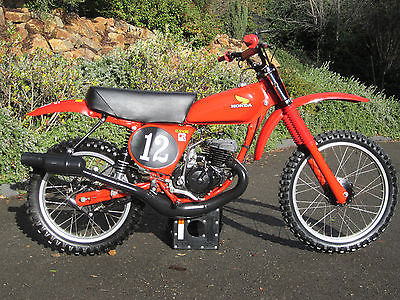 Honda : CR 1978 honda elsinore red rocket cr 125 museum show dirt bike motorcycle ahrma