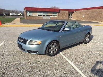 Audi : A4 Cabriolet Convertible 2-Door 2006 audi a 4 cabriolet convertible 2 door 1.8 l