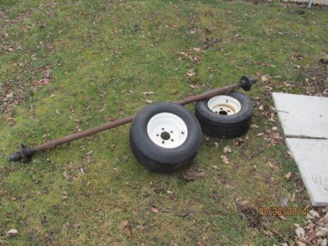 trailer axle and tires