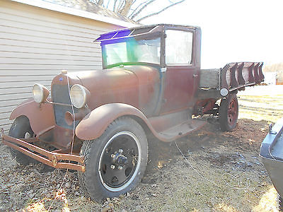 Ford : Other Pickups MODEL AA, BARN FIND, PROJECT, RAT ROD, HOTROD 1929 ford model aa cab and chassis with a 1929 omaha standard wood box