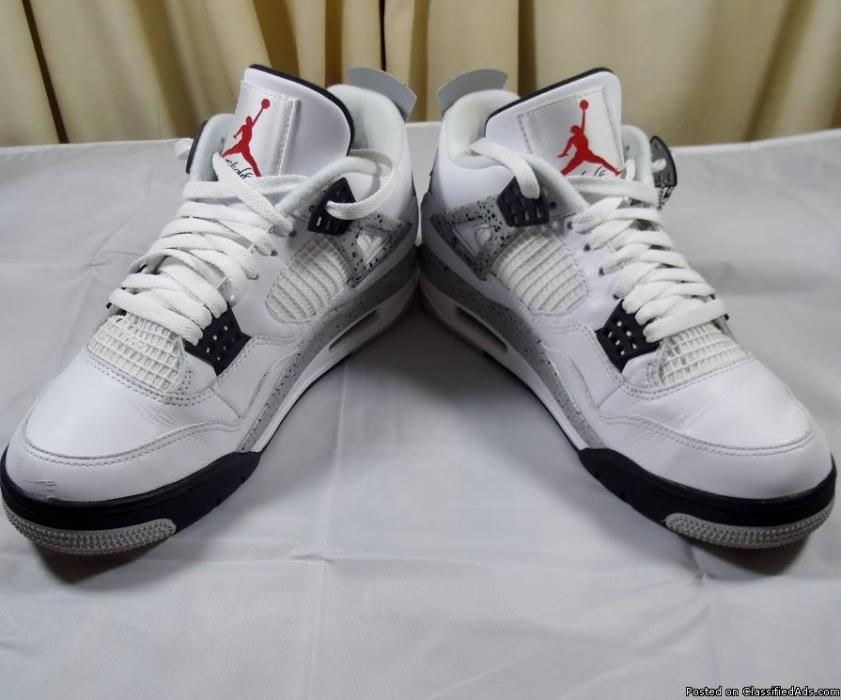 AIR JORDAN 4 RETRO CEMENT SZ M-9