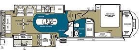 2014 Forest River Sandpiper 35ROK 3Slideout UltraLiving Loaded 5th Wheel