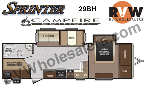 2017 Keystone Rv Sprinter Campfire 29BH