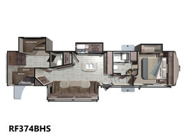 2017 Open Range Rv Roamer Fifth Wheel RF374BHS
