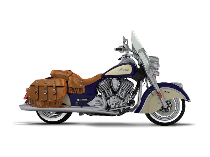 2017 Indian Chief Vintage Springfield Blue Over Ivory Cream