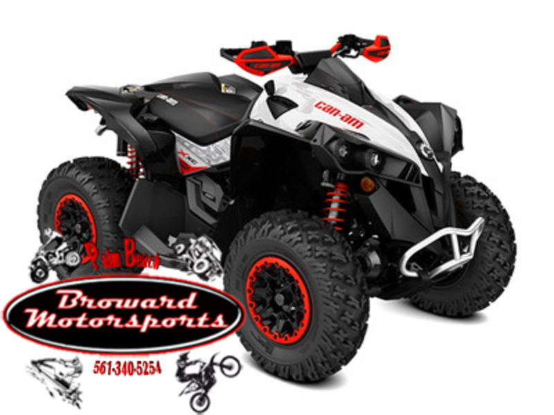 2017 Can-Am Renegade X xc 1000R Black, White & Can-Am Red