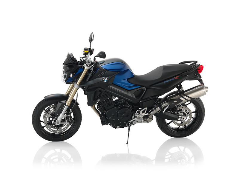 2016 BMW F 800 R Racing Blue Metallic Matte / Black Stain Gloss