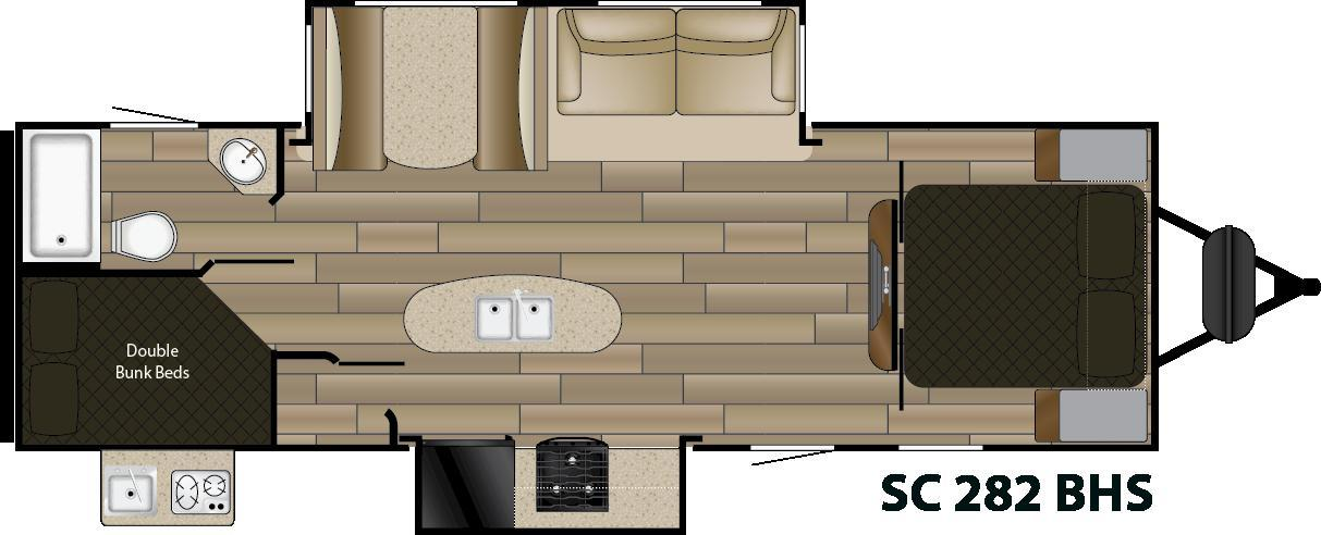 2018 Cruiser Rv Shadow Cruiser 282BHS