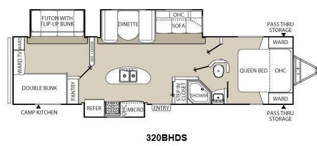 2013 Coachmen Rv Freedom Express 320BHDS