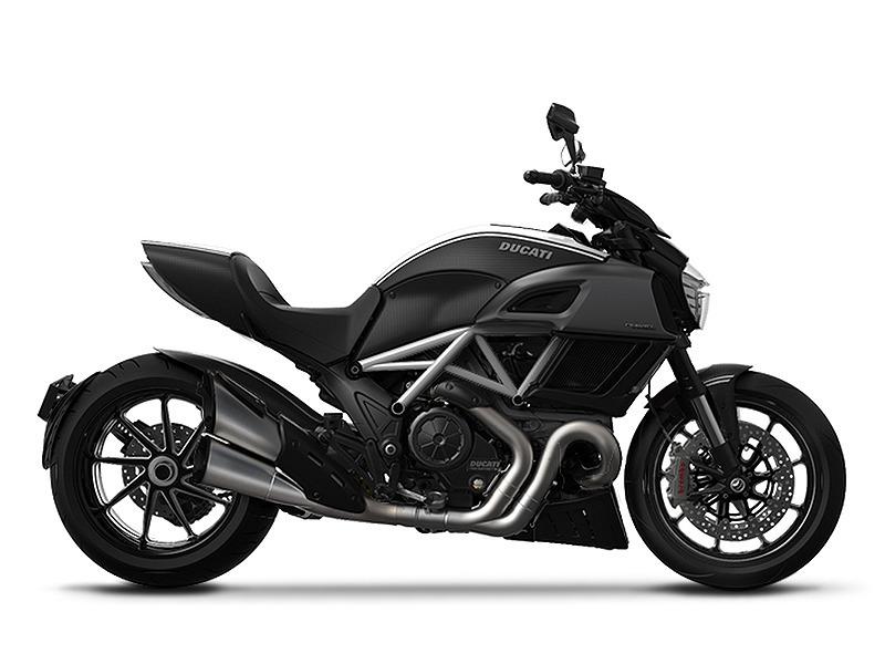 2015 Ducati Diavel Carbon Star White and Matt Carbon