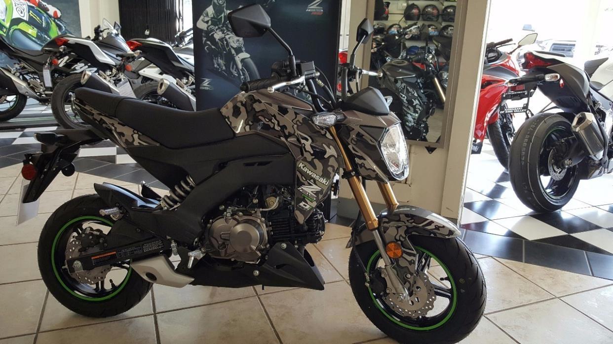 2017 Kawasaki Z125 pro camo