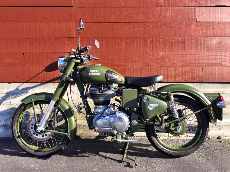 2015 Royal Enfield Classic Battle Green