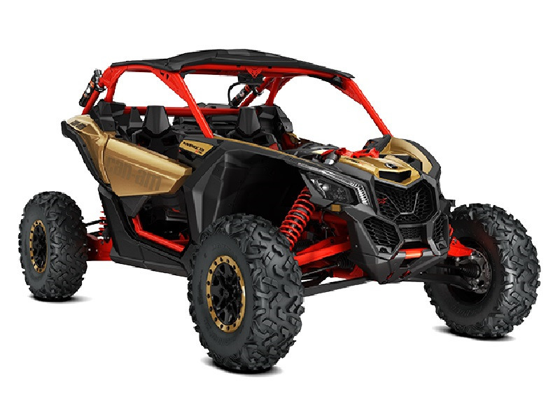 2017 Can-Am Maverick X3 X RS Turbo R Gold & Can-Am Red