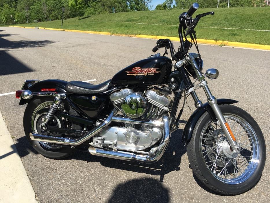 Harley Davidson Sportster 883 Hugger Motorcycles For Sale border=