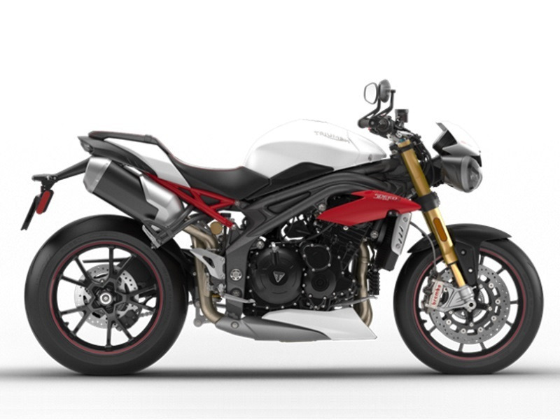 2017 Triumph Speed Triple R ABS Crystal White