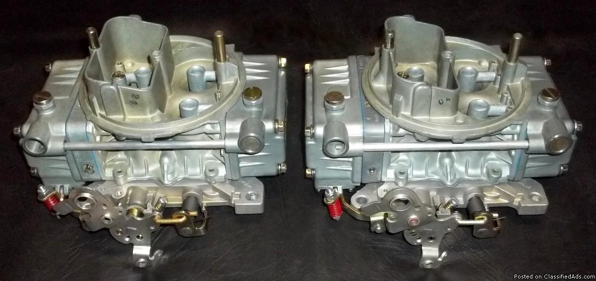 Set Of 2 Rebuilt Holley 9776 / 450 cfm Carburetors For Tunnel Ram / Dual Quad