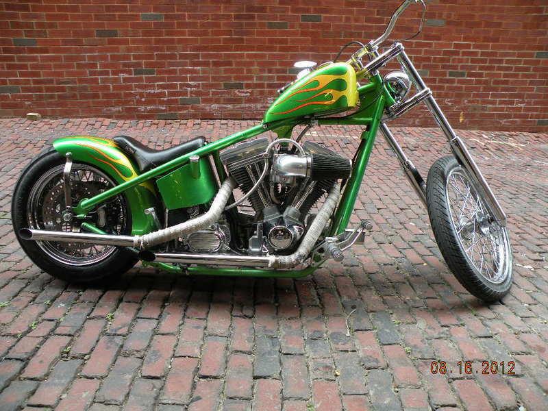 2004 Sucker Punch Sally Chopper Hardtail Evo Custom Flames Bobber