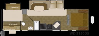 2018 Heartland Rv Wilderness 3150DS