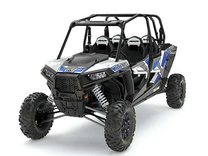2017 Polaris RZR XP 4 1000 EPS White Lightning With Reflex Blue