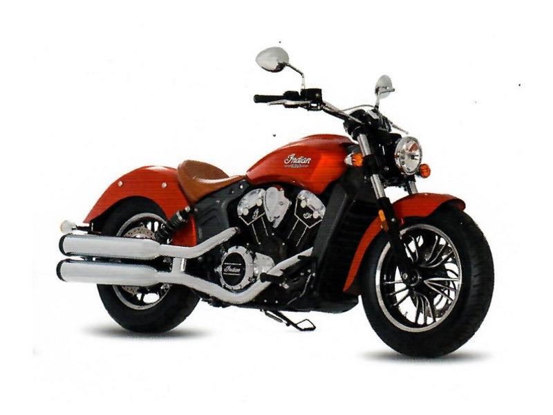 2017 Indian Motorcycle Scout Icon Sunblaze Orange