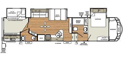 2016 Forest River Sierra Select 357TRIP Two Bedroom Triple Slideout