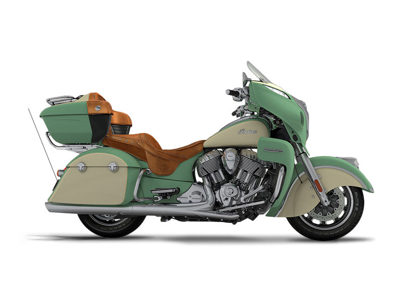2017 Indian Motorcycle Roadmaster Willow Green Over Ivory Cream