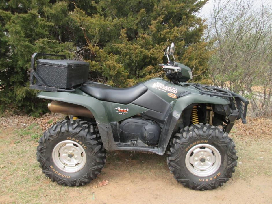 suzuki king quad 700 motorcycles for sale in jones oklahoma. Black Bedroom Furniture Sets. Home Design Ideas