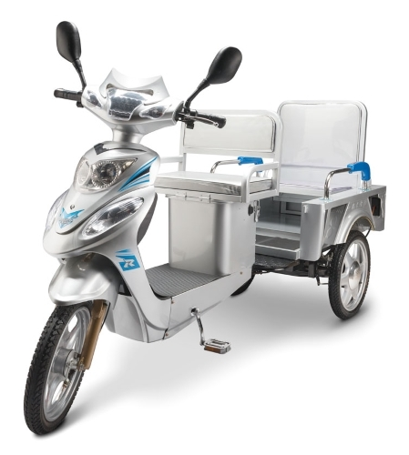 2018 Pss Pedal N Go Taxi Trike 3 Wheel Scooter Moped Bike w/ Ped