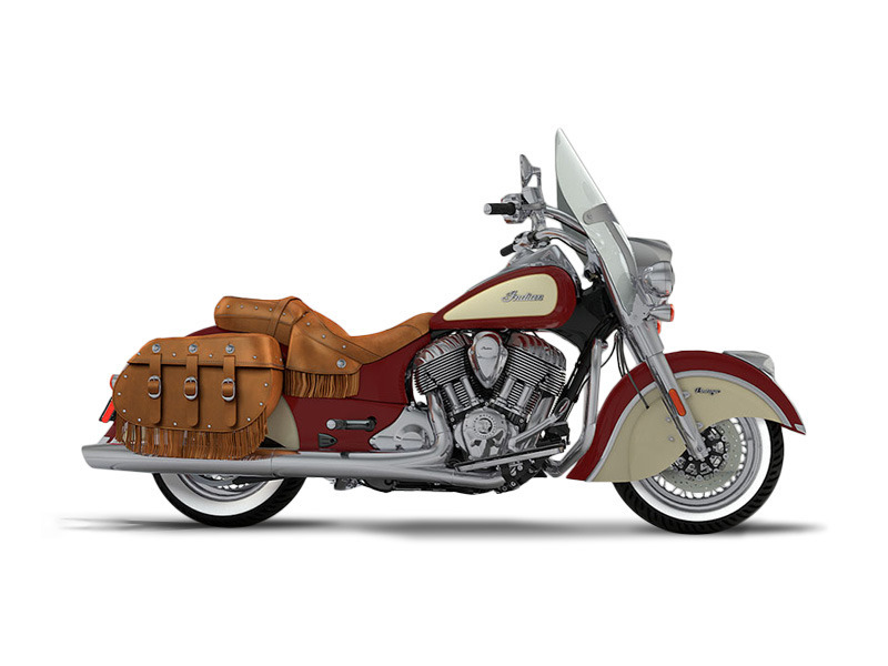 2017 Indian Motorcycle Chief Vintage Indian Motorcycle Red Over Ivory Cream