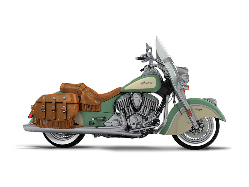 2017 Indian Motorcycle Chief Vintage Willow Green Over Ivory Cream