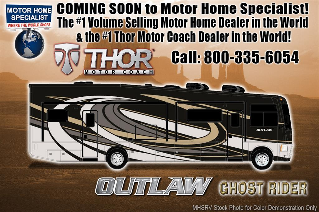 2018 Thor Motor Coach Outlaw 37RB Toy Hauler RV for Sale @ MHSRV Garage Sofa