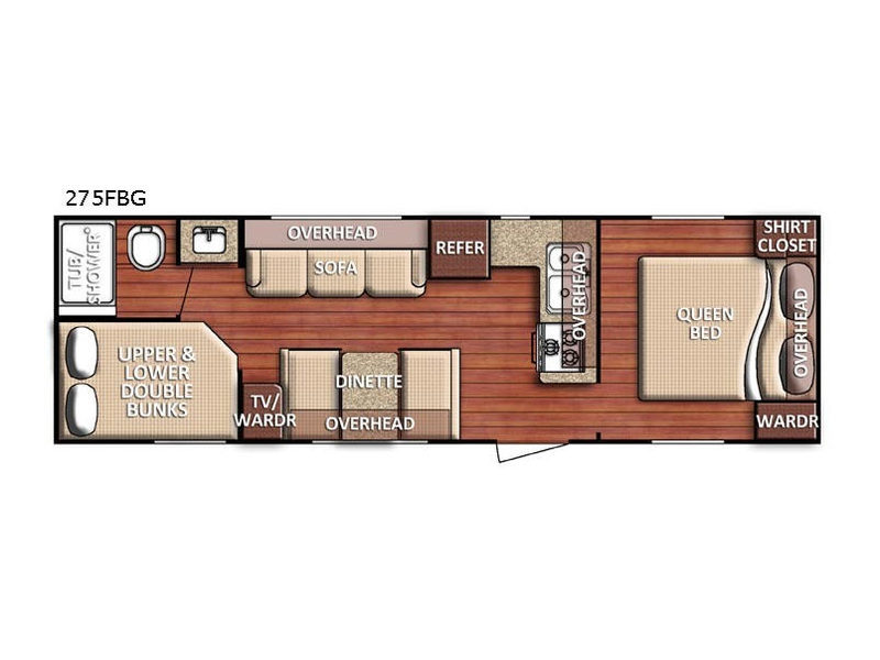 2018 Gulf Stream Rv Friendship 275FBG, 1