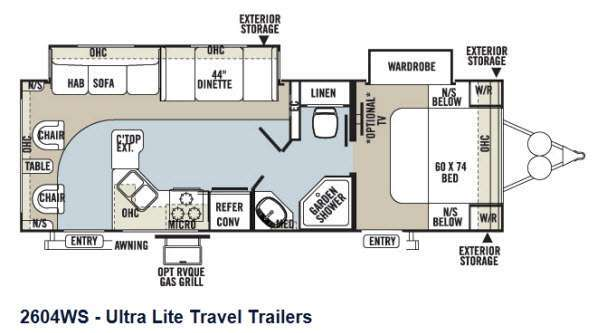 2013 Forest River Rv Rockwood Ultra Lite 2604WS