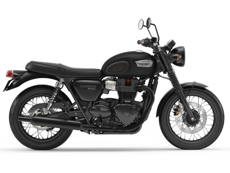 2017 Triumph Bonneville T100 Black Matte Black