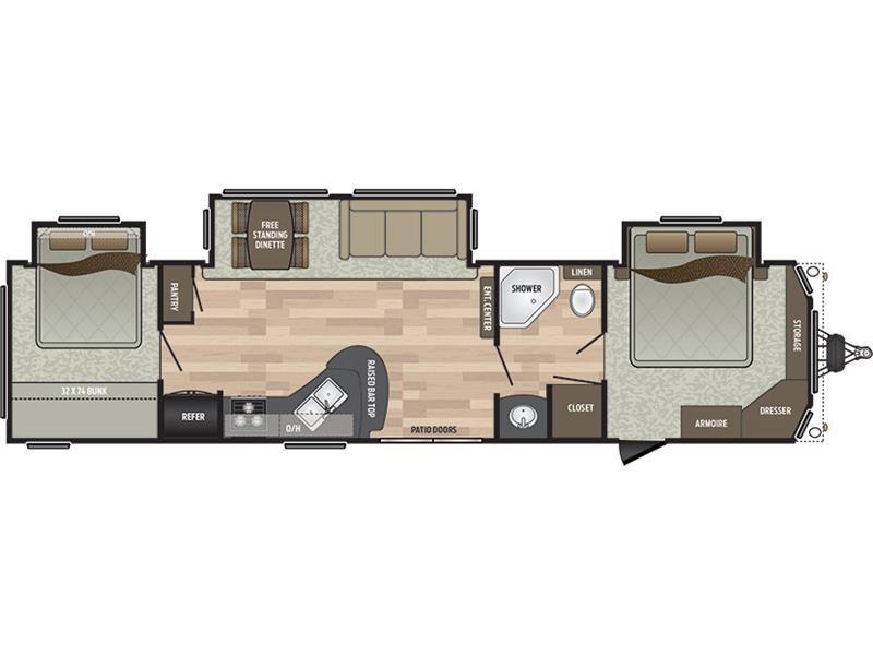 2017 Keystone Residence 40KBBH