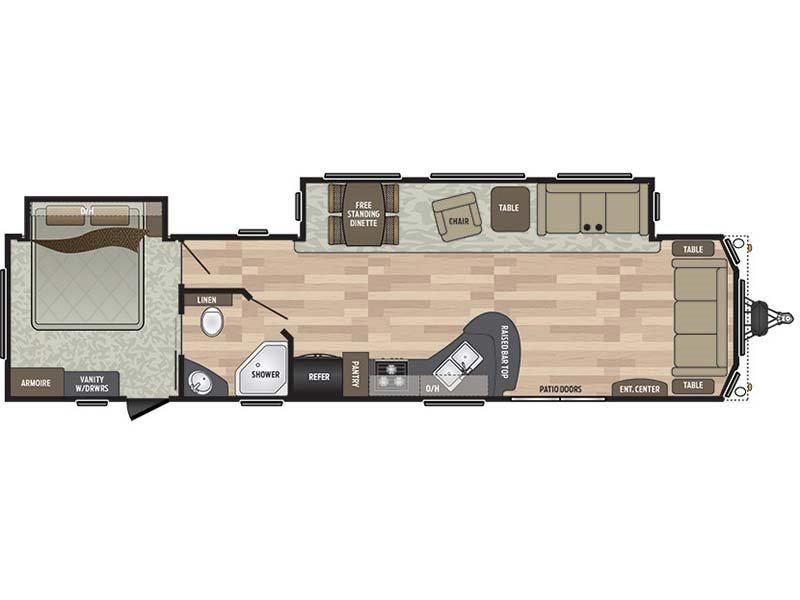 2017 Keystone Residence 40FDEN