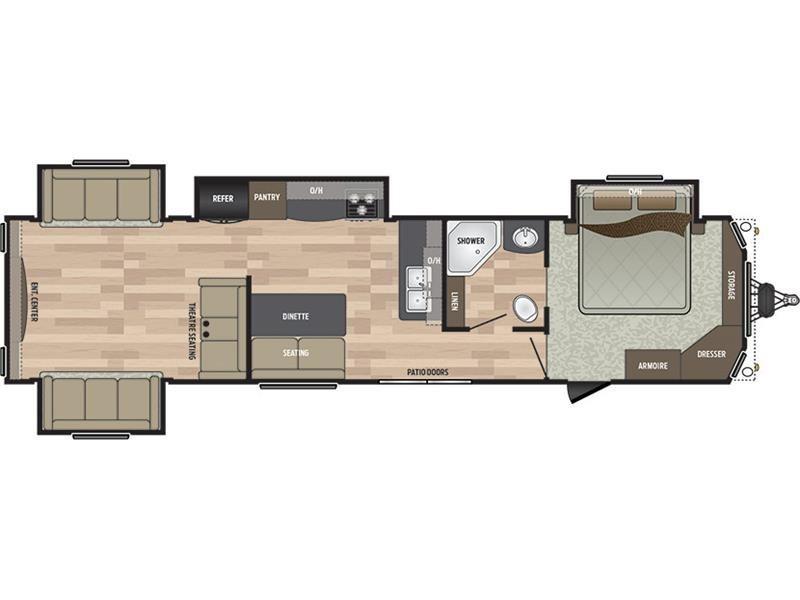 2017 Keystone Residence 40RDEN