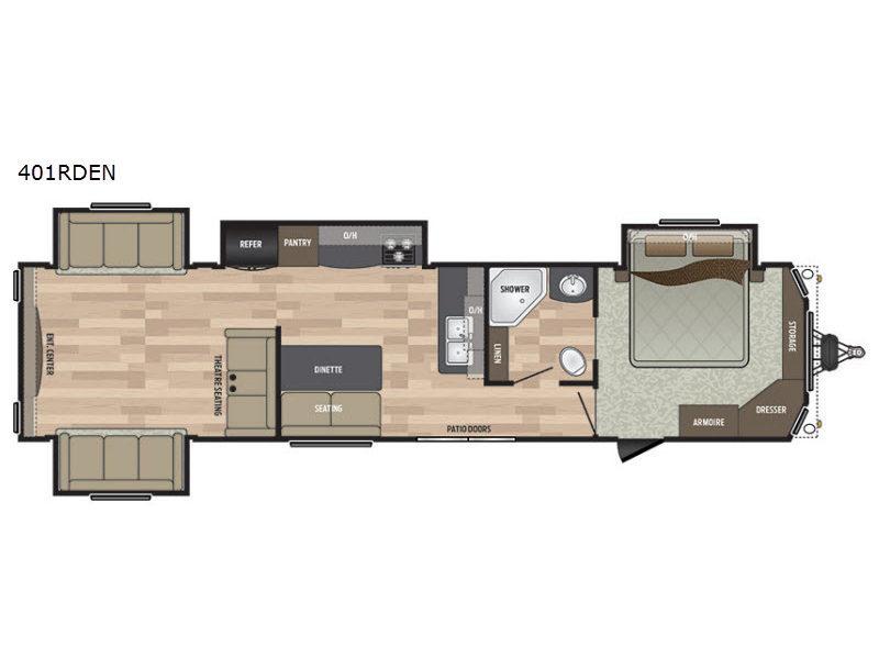 2018 Keystone Rv Residence 401RDEN